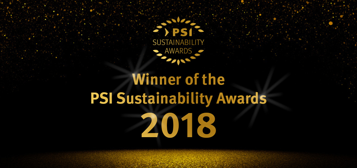 Winner - PSI Sustainability Awards 2018