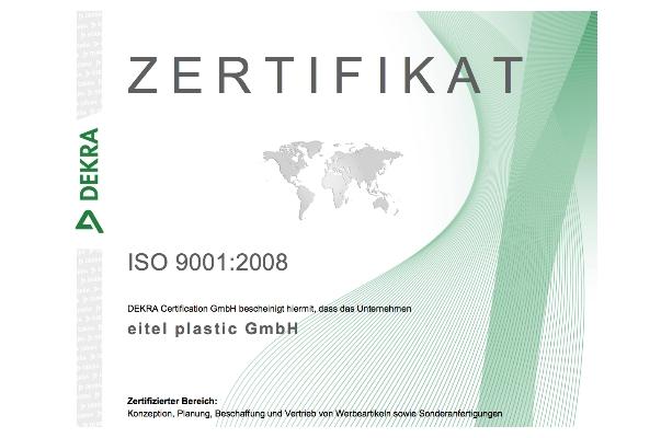 News Archiv: eitel plastic erfolgreich zertifiziert